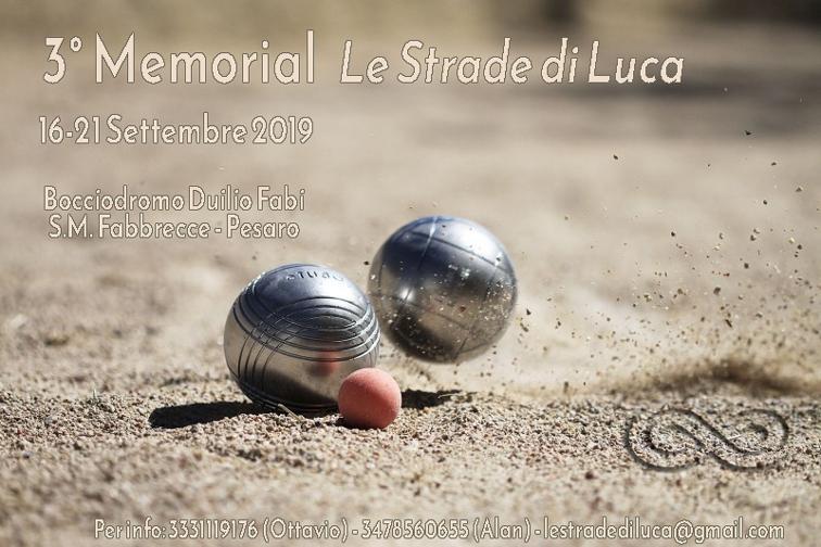 3° Memorial Le Strade di Luca